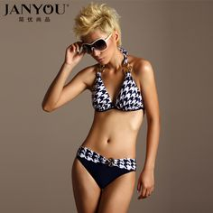 e5a40613142 2013 Fashion Sexy bikini set Female Ladies Women spa swimsuit Houndstooth  Swimming suit  25.90