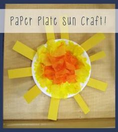 Paper Plate Sun Craft for Kids! by pat-75