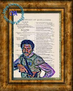 Merchant Lando Calrissian Wild Colors Kitsch Art - Beautifully Upcycled Vintage Dictionary Page Book Art Print by CocoPuffsArt on Etsy