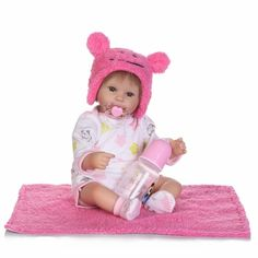61.04$  Buy here - http://ali3h4.shopchina.info/go.php?t=32807707604 - New 16 Inch 40cm Silicone Reborn Baby Doll kids Playmates Gift For Girls Baby Alive Soft Toys For Bouquets pink Doll Baby Reborn  #bestbuy
