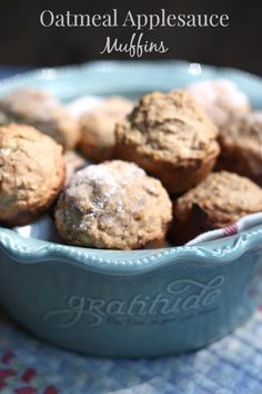 These delicious Oatmeal Applesauce Muffins are the perfect #healthy option. #recipe