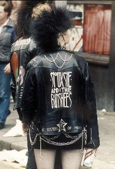 A classic Goth image . . .Siouxsie and the Banshees girl