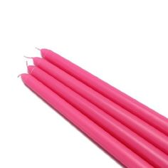 Hot Pink Taper Candles- I finely found them, looked at all the expensive stores & found them in Southern IL @ Walmart, Ha
