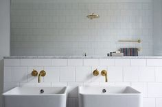Look We Love: Gold Fixtures in the Bathroom