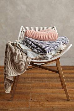 Woven Cotton Throw - anthropologie.com