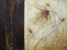 Alicia Tormey  Poncho Art    Delicate Balance - Encaustic w/mixed media