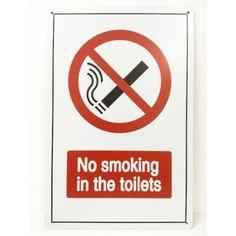 Plaque métal No smoking in the toilets
