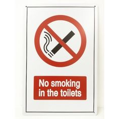 Plaque métal No smoking in the toilets