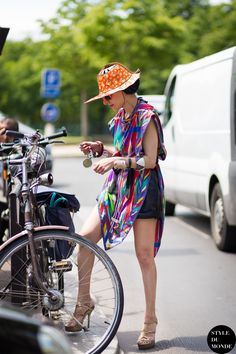 bike lady. #CatherineBaba being fabulous in Paris.