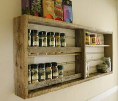 looking to do a spice rack on the wall where my giant standing one is....hmmm this but many more shelves lol