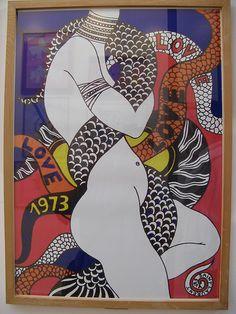 Drawing by Yves Saint Laurent, Majorelle Gardens, 1 9 7 3, Marrakech.