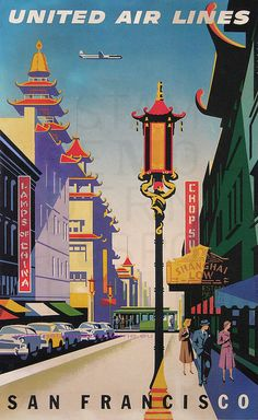Travel to San Francisco with United Airlines, circa 1950s. #sanfrancisco #unitedairlines #1950s