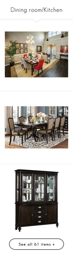 """Dining room/Kitchen"" by slytherinsweetheart24 ❤ liked on Polyvore featuring home, furniture, storage & shelves, display units, storage furniture, home storage furniture, drawer furniture, door furniture, hardware furniture and kitchen & dining"