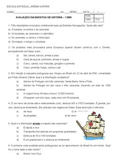 Espaco Educar Atividades Sobre O Descobrimento Do Brasil 3