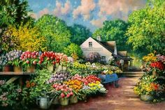 Cottage In Flowers Photo:  This Photo was uploaded by texaskari322. Find other Cottage In Flowers pictures and photos or upload your own with Photobucket...
