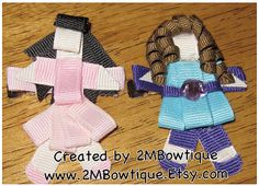 "The Fresh Beat Band Inspired Ribbon Art Hair Clips. :) For the little ""Marina"" and ""Kiki"" in my life. :)"