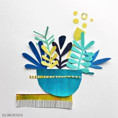 Papercut pieces for day 2 of planning to slowly ease into this project. Kunstjournal Inspiration, Art Journal Inspiration, Paper Cutting, Cut Paper, Flower Pattern Drawing, Drawing Flowers, Paper Flowers, Motifs Textiles, Paper Art