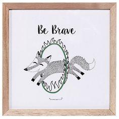 Bloomingville Tavla Circus Be Brave, Grön