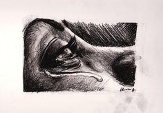 Negro Carbòn - charcoal drawing made by Chiara Fabbri. disegno a carboncino fatto da Chiara Fabbri.