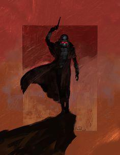 Desert Ranger, Anndr Kusuriuri on ArtStation at https://www.artstation.com/artwork/oyV3k