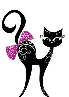 Find Vector Black Cat stock images in HD and millions of other royalty-free stock photos, illustrations and vectors in the Shutterstock collection. Black Cat Art, Cat Silhouette, Cat Supplies, Cat Drawing, Cat Love, Cool Cats, Rock Art, Painted Rocks, Cats And Kittens