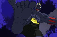 Giant Machoke stomps with his huge foot.