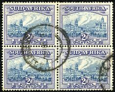 Union of South Africa 1938 Scott 53 (SG blue violet & dull blue Union Of South Africa, Blue Art, Deep Blue, Landscape Photography, City Photo, Blue Green, Two By Two, African, Stamps
