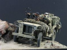 conversion of Hasegawa's 1/24 Jeep with AC Models figure and conversion set.