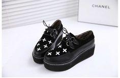New Fashion Women Retro Soled Platform Shoes Waterproof Shoes H236