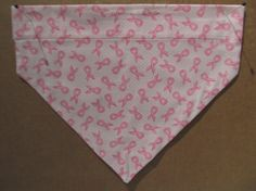 Breast Cancer Dog Bandana by SCCDogApparel on Etsy, $10.00