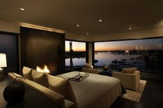 Bedroom, Water Views, Fireplace, Loft with Spectacular Views in Corona del Mar, California