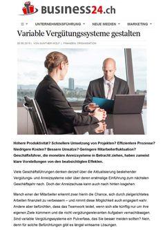 Variable Vergütungssysteme gestalten. In: Business24.ch (20.08.). Luzern: Belmedia 2015.  Kostenlos lesen: http://guntherwolf.de/veroeffentlichungen/