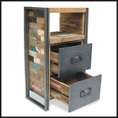 reclaimed wood industrial furniture