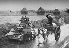 Light tank Mk VIB of 13/18 Hussars.BEF.France 1940