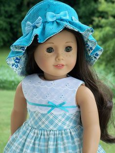 American Girl Doll Clothes 1950's Dress & Hat by Farmcookies