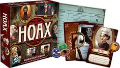 Hoax: A Game of Secret Identities. A taste of the new board games at Gen Con 2015. #boardgames #tabletop