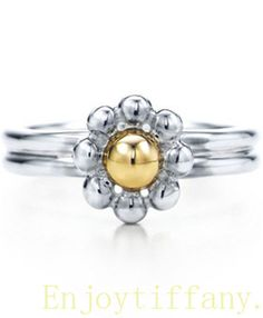 Tiffany & Co outlet Two Tone Flower Ring