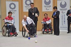 IPC President Sir Philip Craven met Tokyo Governor Koike for a boccia match today. Sadly, #TeamIPC lost 8-0. photo credit: TMG #ElectronicsStore