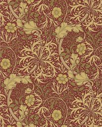 Morris Seaweed Red/Gold från William Morris & Co