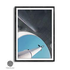 Blue Architecture Print,Monument,Pillars,Modern Wall Art,Printable Gift. | Infinite Art Shop Office Wall Decor, Modern Wall Decor, Infinite Art, Architectural Prints, Photographic Prints, Large Prints, Printable Wall Art, Wall Art Prints, Art Photography