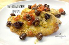 Pollo pomodorini ed olive Clean Recipes, Cooking Recipes, Healthy Recipes, My Favorite Food, Favorite Recipes, Olive, Fett, Vegetable Pizza, Italian Recipes