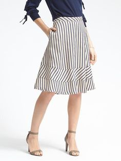 Find beautiful, flattering skirts for every occasion including on-trend midi skirts, polished pencil skirts, elegant A-line skirts and more. Petite and Tall sizes available. White Midi Skirt, Fitted Skirt, Stripe Skirt, White Skirts, Blue Skirts, Women's Skirts, Plaid Skirts, Modern Outfits, Office Outfits