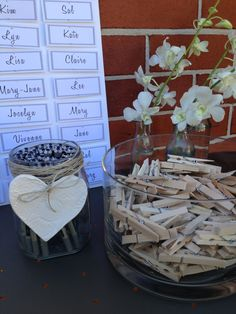 Baby shower name tags & pegs for games.