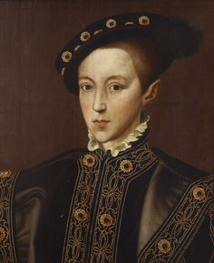 King Edward VI of England (1537-1553) Son of Henry VIII of England and Jane Seymour. Portrait after Guillaume Scrots, c.16th century