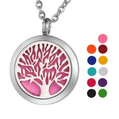 VALYRIA Aromatherapy Essential Oil Diffuser Necklace Family Tree of Life Locket Pendant with 24' Chain,11 Refill Pads *** Trust me, this is great! Click the image. : aromatherapy