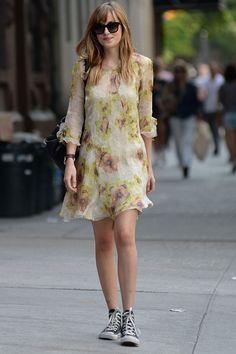 Dakota Johnson In A Summer Dress