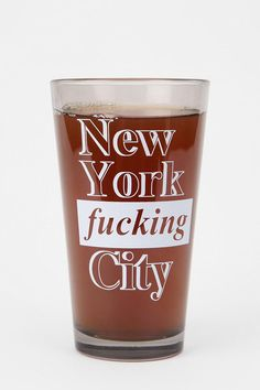 NYFC Pint Glass  #UrbanOutfitters