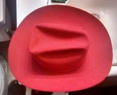 Dobbs Hat Vintage 1960 s 7 3 8 Red Western Cowboy Hat  d56d5d69996a
