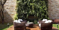 Sofá de fibra sintética com assento Branco #decoração #design #jardim