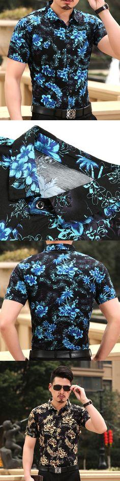 2017 Summer leisure men shirts camisa social masculina men short sleeve shirt fashion men shirts Free Shipping #menshirts